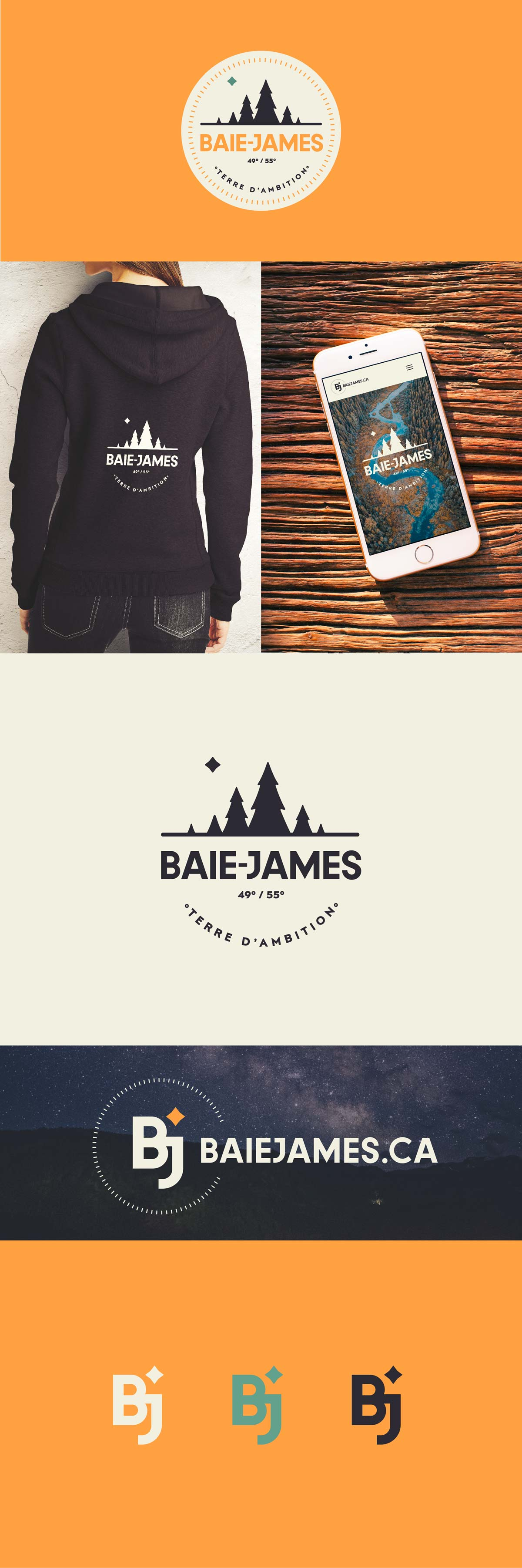 Baie-James - marketing territorial | Identité visuelle | Visages régionaux